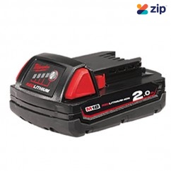 Milwaukee M18B2 18v Extended Capacity 2.0Ah LI-ION Red Lithium Battery Batteries & Chargers