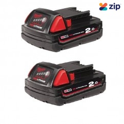 Milwaukee M18B22 - 18V 2.0Ah REDLITHIUM-ION Battery Twin Pack