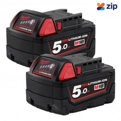 Milwaukee M18B52 - 18V 5.0Ah REDLITHIUM-ION Extended Capacity Dual Battery Pack Batteries & Chargers