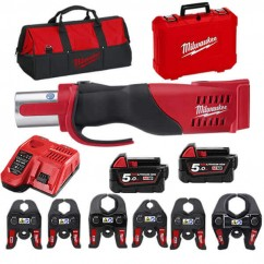 Milwaukee M18BLHPT-1550K - 18V 5.0Ah Cordless Brushless Force Logic Press Tool Kit