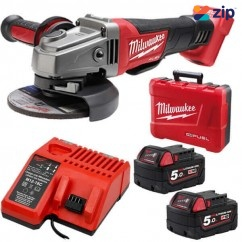 "Milwaukee M18CAG125XPD-502C - 18V Cordless M18 FUEL 5.0Ah 125mm (5"") Angle Grinder Kit Cordless Grinders - Angle"