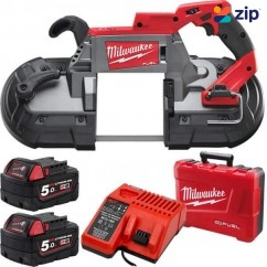 Milwaukee M18CBS125-502C - 18V Cordless M18 FUEL 127MM Deep Cut Bandsaw Kit Cordless Bandsaw