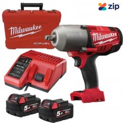"Milwaukee M18CHIWF12-502C - 18V Cordless M18 Fuel 1/2"" High Impact Wrench Kit"