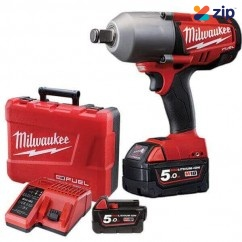 "Milwaukee M18CHIWF34-502C 18V Fuel 3/4"" High Torque Impact Wrench Kit Cordless Impact Wrenches Square Drive"