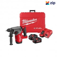Milwaukee M18FH-602C - 18V 26mm Cordless M18 Fuel SDS PLUS Rotary Hammer Kit Rotary Hammer Drills