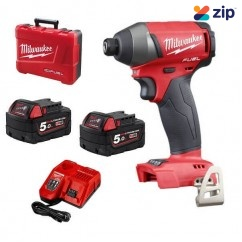 "Milwaukee M18FID-502C - 18V Cordless M18 Fuel 1/4"" Hex Impact Driver Kit Cordless Drills - Impact"
