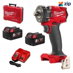 """Milwaukee M18FIW2P12-502C - 18V Cordless M18 Fuel 1/2"""" Pin Detent Impact Wrench Kit Impact Wrenches"""