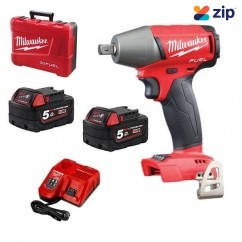 "Milwaukee M18FIWP12-502C - 18V Cordless M18 Fuel 1/2"" Impact Wrench Kit Cordless Impact Wrenches Square Drive"