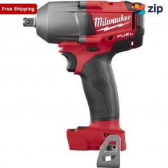 "Milwaukee M18FMTIWP12-0 - 18V Li-Ion Cordless Fuel 1/2"" Mid-Torque Impact Wrench with Pin Detent- Skin Skins - Impact Wrenches Square Drive"