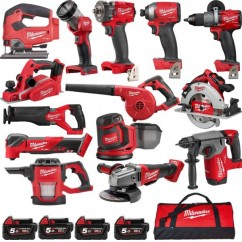 Milwaukee M18FPP14A2-853B - 18V M18 Fuel Cordless Brushless 14 Piece Combo Kit 14A2