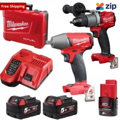 Milwaukee M18FPP2C2-502C - 18V 5.0Ah Cordless M18 Fuel 2 Piece Combo Kit Combo Kits 18v