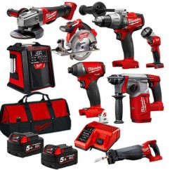 Milwaukee M18FPP8A-502B - 18V Cordless 8 Piece M18 Fuel Combo Kit
