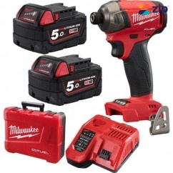 "Milwaukee M18FQID-502C - 18V 5.0Ah FUEL SURGE 1/4"" HEX Hydraulic Impact Driver Kit Cordless Impact Drivers 1/4"" Hex"