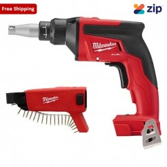 Milwaukee M18FSGC-0 - 18V FUEL Drywall Cordless Collated Screw Gun Skin Skins - Screw Guns