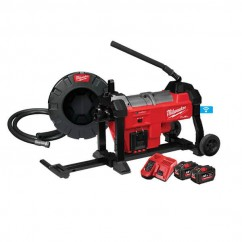 Milwaukee M18FSSM32-122 - M18 Fuel Sectional Sewer Machine W/ Cable Drive Kit Sewer Machines