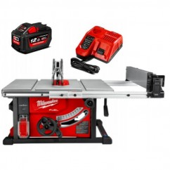 "Milwaukee M18FTS210-121B - M18 18V 12Ah Li-ion Cordless Fuel ONE-KEY 210mm (8"") Table Saw Kit Table Saws"