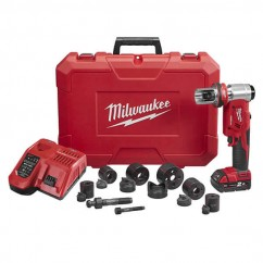 Milwaukee M18HKP-201C - 18V 16mm-63mm 6T Forcelogic Hydraulic Knockout Tool Kit