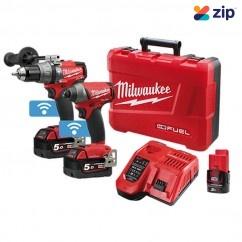 Milwaukee M18ONEPP2A-502C - 18V 5.0Ah Cordless Brushless One-Key 2 Piece Combo Kit Combo Kits 18v