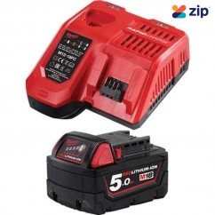 Milwaukee M18SP-501BA - 18V 5.0Ah Li-ion Cordless Battery and Charger Starter Pack Batteries & Chargers