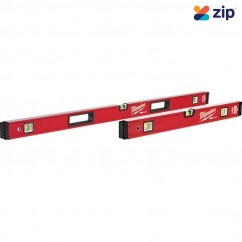 "Milwaukee MLBXS48 - 600mm/1200mm (24""/48"") REDSTICK Box Level Set Milwaukee Accessories"