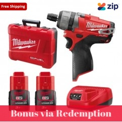 "Milwaukee M12CD-302C - 12V 3.0Ah M12 Fuel 1/4"" Hex 2-Speed Screwdriver Kit Cordless Drills - Impact"