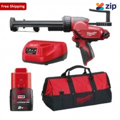 Milwaukee M12PCG310-201B - 12V 2.0Ah M12 310ml Caulk and Adhesive Gun Kit
