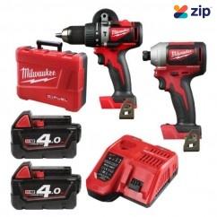 Milwaukee M18BLPP2A2-402C - 18V Brushless 2 Piece Combo Kit 18V Brushless Combo Kits