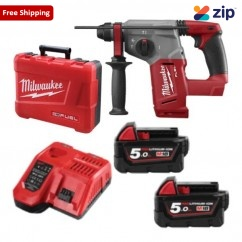 Milwaukee M18CH-502C - 18V M18 Fuel 26mm Brushless Cordless Rotary Hammer Kit Rotary Hammer Drills