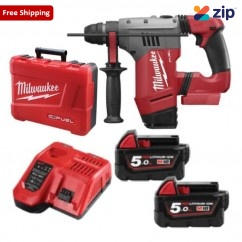 Milwaukee M18CHP-502C - 18V 28mm Brushless FUEL SDS Plus Rotary Hammer Drill Kit Cordless Rotary Hammers