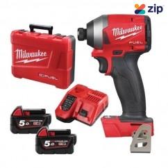 "Milwaukee M18FID2-502C - 18V Cordless M18 Fuel 1/4"" Hex Impact Driver Kit Drivers/Drills"
