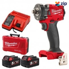 """Milwaukee M18FIWF12-502C - M18 Fuel 18V 5.0Ah 1/2"""" Cordless with Friction Ring Compact Impact Wrench Kit Impact Wrenches"""