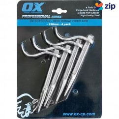 OX-Tools OX-P100615 - 150mm Professional Semi Round Dutch Pin, Fixed Arm - 4pk Concrete Hand Tools
