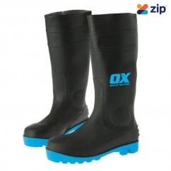 OX Steel OX-S242409- Toe Safety Gumboots, Size 9 Safety Boots