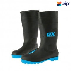OX Steel OX-S242410- Toe Safety Gumboots, Size 10 Safety Boots