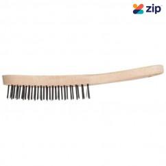 PFERD HBU 40 ST 0.35 - 290mm 4 Rows Hand Scratch Wooden Body Steel Wire Brush 43673001 Scraping Tools