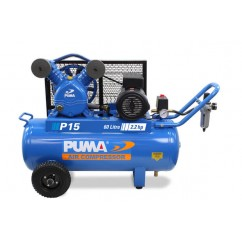 Puma P15 Single Phase 240V 15Cfm 270Lpm 60L Tank Air Compressor Single Phase