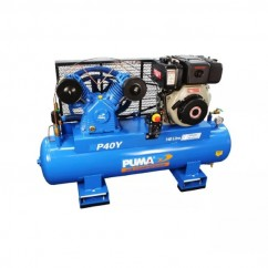 Puma PU P40Y ES - 140L 10.0HP P40Y Yanmar Diesel Electric Start Air Compressor  Petrol & Diesel