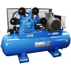 Puma P75-415V - 415V 11KW/15HP 53.7CFM Reciprocating Compressor Three Phase