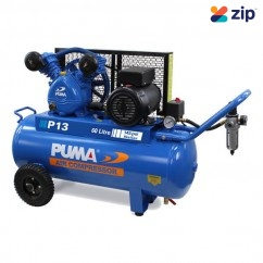 Puma P13 Single Phase 240V 13Cfm 255Lpm 60L Tank Air Compressor Single Phase