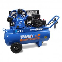 Puma P17 Single Phase 240V 17cfm 400Lpm 60L Tank Air Compressor Single Phase