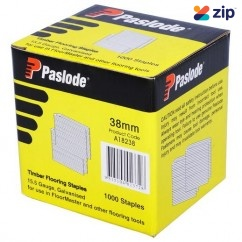 Paslode A18238/1 - 38mm Electro Galv Floormaster Staples Suits Paslode Floormaster A18200 - Pack Of 1000 Nail Gun Nails Consumables