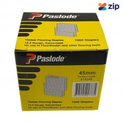 Paslode A18245/1 - 45mm Electro Galv Floormaster Staples Suits Paslode Floormaster A18200 - Pack of 1000 Nail Gun Nails Consumables
