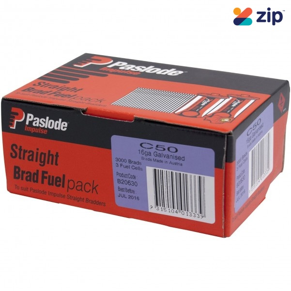 Paslode B20630 - Impulse 50mm Straight C Brads Nails