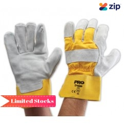 Prochoice PS940GY Heavy Duty Yellow/Grey Leather Palm Glove Gloves