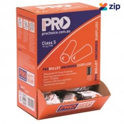 Prochoice EARPLUG200 - ProBullet Disposable Uncorded Earplugs 200 Pack EPOU Head, Eye & Ear protection