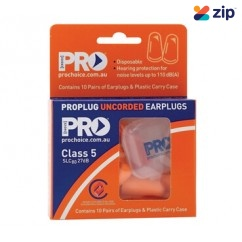 Prochoice EPOU-10 - 10 Pack ProBullet Disposable Uncorded Earplugs Head, Eye & Ear protection