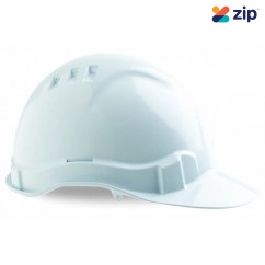 ProChoice HHV6 - White Vented Pin Lock Harness Safety Hard Hat  Head, Eye & Ear protection