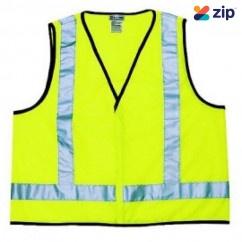Prochoice SVY-AS - Fluoro Yellow H Back Safety Vest Safety Vests