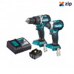 Makita DLX2180T1 - 18V 5.0Ah 2 Piece Cordless Hammer Drill & Impact Driver Combo Kit