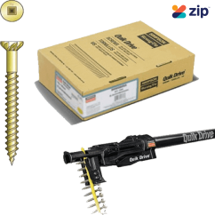 Simpson Strong-Tie Quik Drive WSNTLA2SA10 - 50mm 10g Twin Lead & Timber Sharp Point Yellow Zinc Flooring Screw  Deck Screws